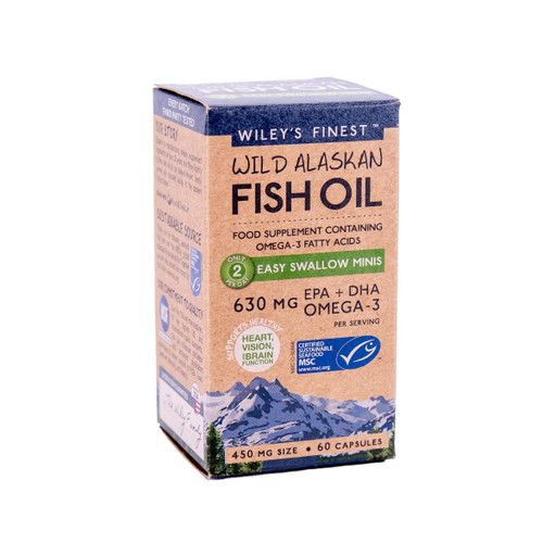 Wiley's Finest Wild Alaskan Fish Oil Easy to Swallow Minis - 60 capsules