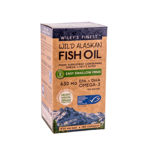 Wiley's Finest Wild Alaskan Fish Oil Easy to Swallow Minis - 180 capsules