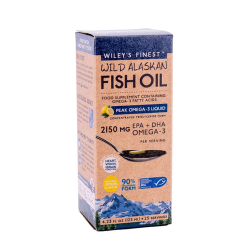 Wiley's Finest Wild Alaskan Fish Oil Peak Omega-3 - 125ml