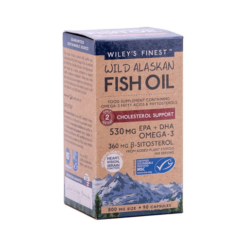 Wiley's Finest Wild Alaskan Fish Oil Cholesterol Support - 90 capsules