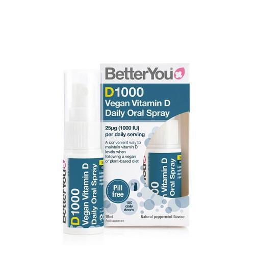 BetterYou D1000 Vegan Vitamin D Spray - 15ml