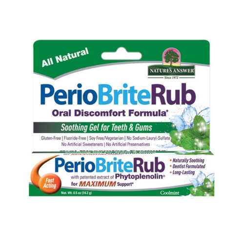 Nature's Answer PerioBrite Rub Soothing Gel for Teeth and Gums - 14.2g