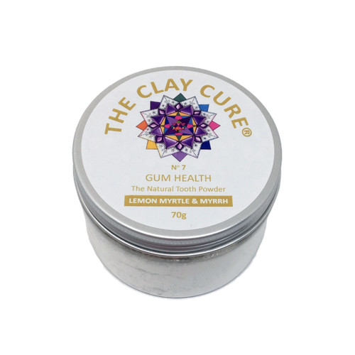 The Clay Cure Company Lemon Myrtle and Myrrh Tooth Powder - 70g