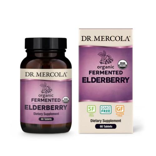 Dr Mercola Organic Fermented Elderberry - 60 tablets
