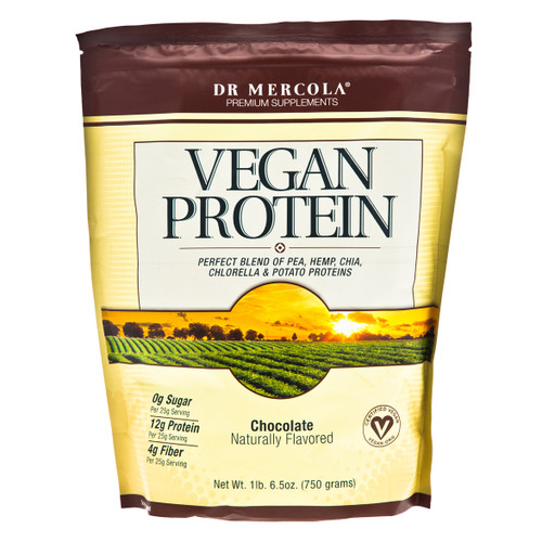 Dr Mercola Vegan Protein Chocolate - 750g