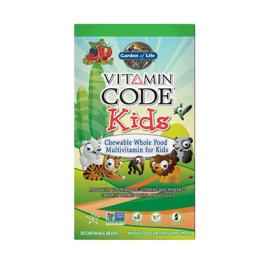 Garden of Life Vitamin Code Kids - 30 Chewable Bears