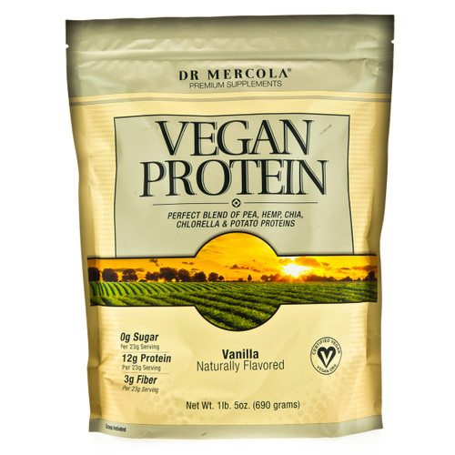 Dr Mercola Vegan Protein Vanilla - 690g