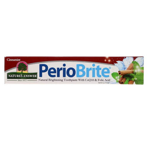 Nature's Answer PerioBrite Fluoride Free Toothpaste (Cinnamint) - 113.4g