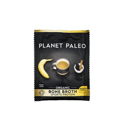 Planet Paleo Bone Broth Sports (Vanilla and Banana) - 16g sachet