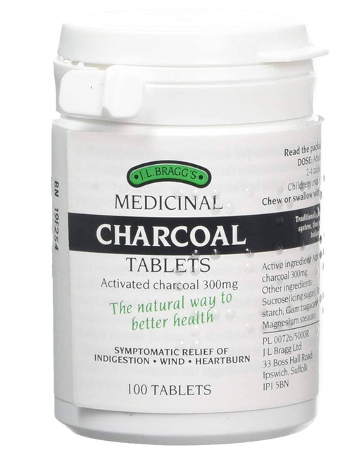 Braggs Medicinal Charcoal Tablets - 100 tablets