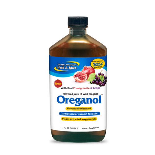 North American Herb & Spice Oreganol P73 Juice (Juice of Oregano) Pomegranate and Grape - 355ml