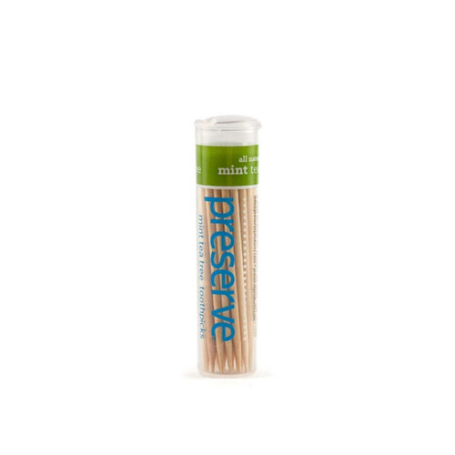 Preserve Toothpicks Mint Tea Tree - 35 toothpicks