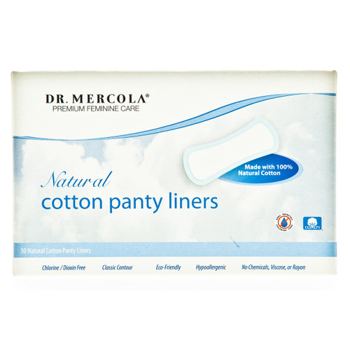 Dr Mercola Natural Cotton Panty Liners - 30 x Panty Liners