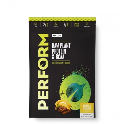 Vivo Life PERFORM Raw Plant Protein Powder & BCAA Banana & Cinnamon - 532g