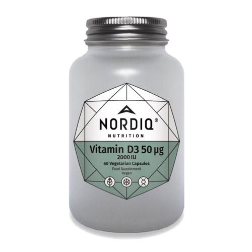 Nordiq Nutrition Vitamin D3 50ug 2000iu - 60 capsules