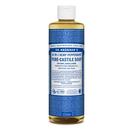 Dr Bronner's Organic Peppermint Liquid Soap - 473ml