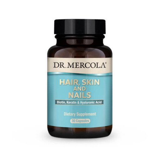 Dr Mercola Hair, Skin and Nails (biotin, keratin & hyaluronic acid) - 30 capsules