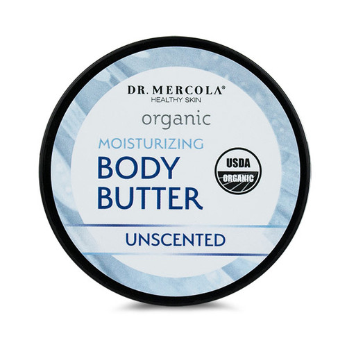 Dr Mercola Healthy Skin Organic Body Butter (Unscented) - 113g