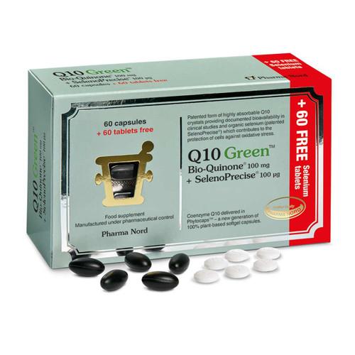 Pharma Nord Q10 GREEN Bio-Quinone + SelenoPrecise - 60 tablets (+ 60 FREE Selenium tablets)