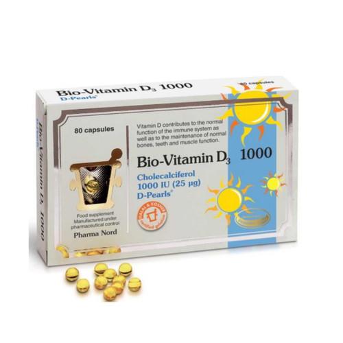 Pharma Nord Bio-Vitamin D3 1000iu - 80 capsules