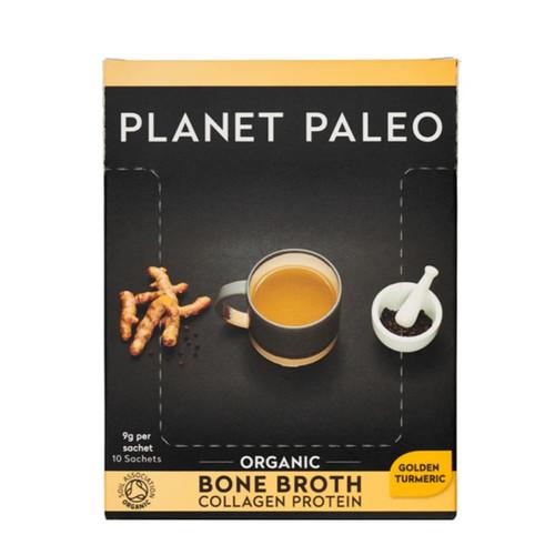 Planet Paleo Bone Broth Box (Golden Turmeric) -10 x 9g sachet