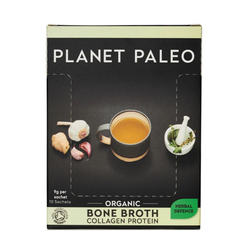 Planet Paleo Bone Broth Box (Herbal Defence) - 10 x 9g sachet