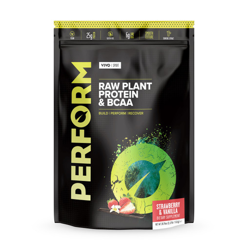 Vivo Life PERFORM Raw Plant Protein & BCAA Strawberry & Vanilla - 532g