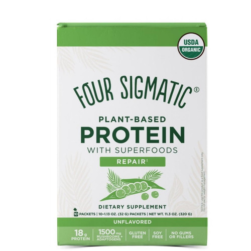 Four Sigmatic Plant Based Protein Unflavoured - 10 packets