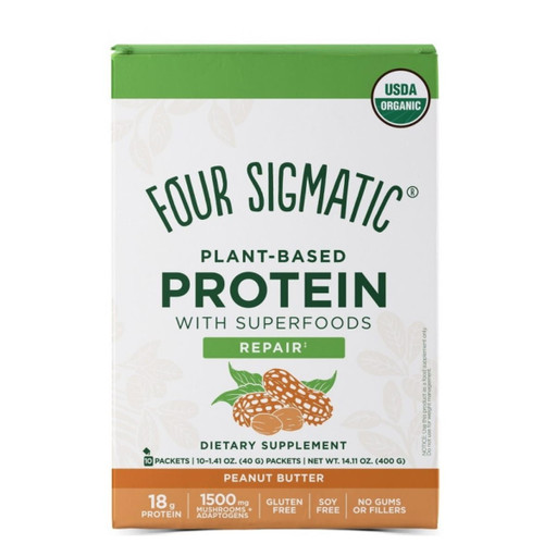Four Sigmatic Plant Based Protein Peanut Butter - 10 packets