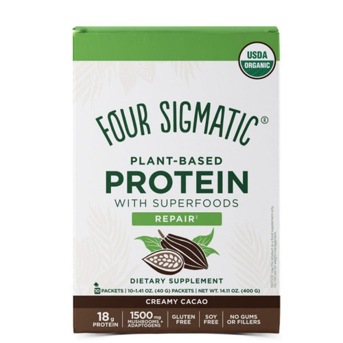 Four Sigmatic Plant Based Protein Creamy Cacao - 10 packets