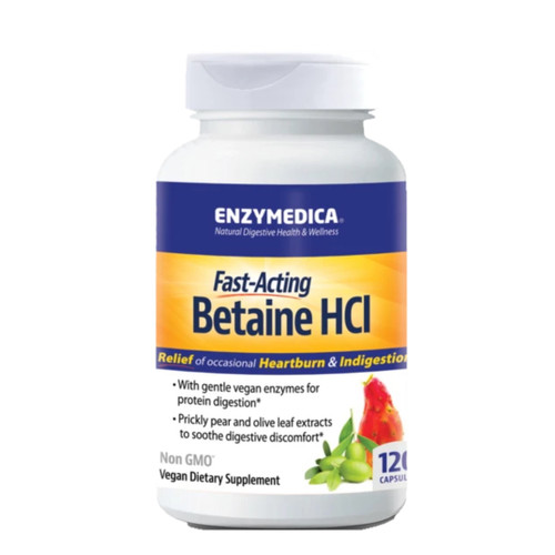 Enzymedica Betaine HCI - 120 capsules