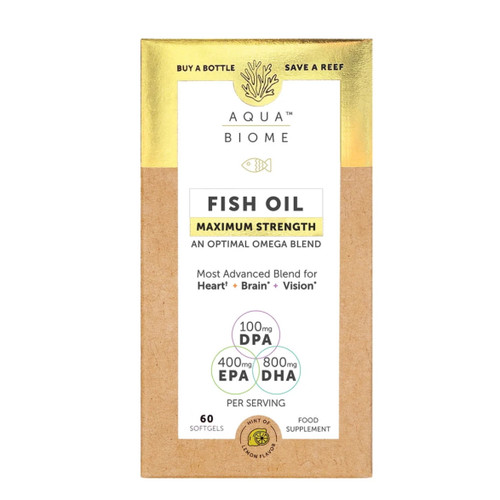Aqua Biome Fish Oil Maximum Strength - 60 capsules