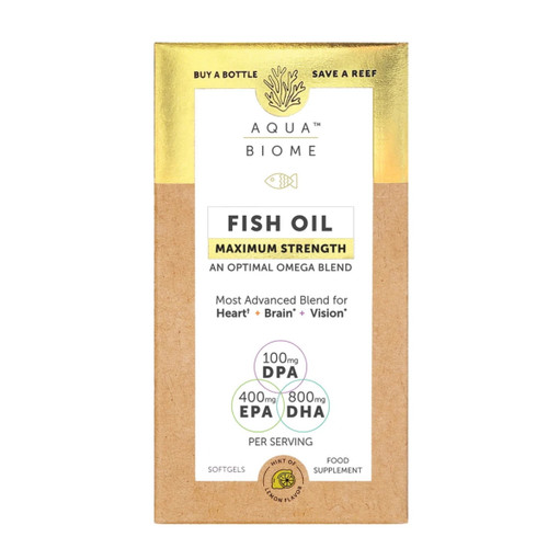 Aqua Biome Fish Oil Maximum Strength - 120 capsules