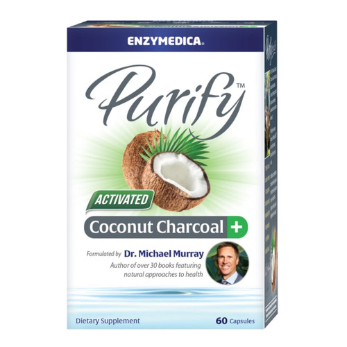 Enzymedica Activated Coconut Charcoal+ - 60 capsules