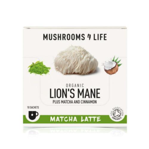 Mushrooms 4 Life Organic Lion's Mane Matcha Latte - 10 sachets