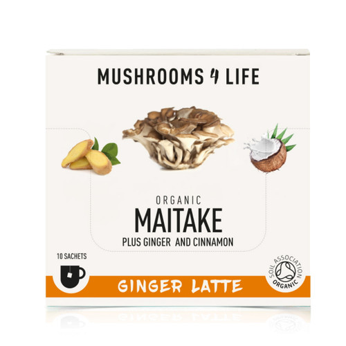 Mushrooms 4 Life Organic Maitake Ginger Latte - 10 sachets