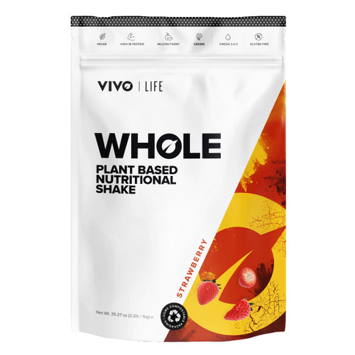 Vivo Life WHOLE Plant Based Nutritional Shake Strawberry - 1kg