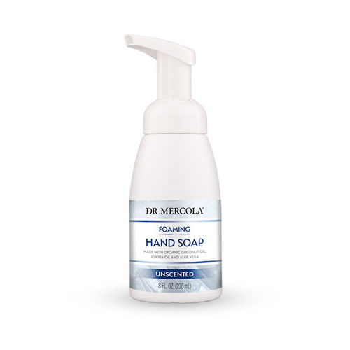 Dr Mercola Healthy Skin Unscented Foaming Hand Soap - 207ml