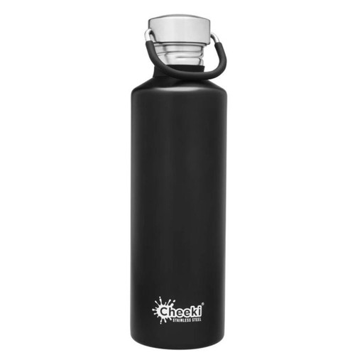 Cheeki Single Wall Water Bottle (Matte Black) - 750ml