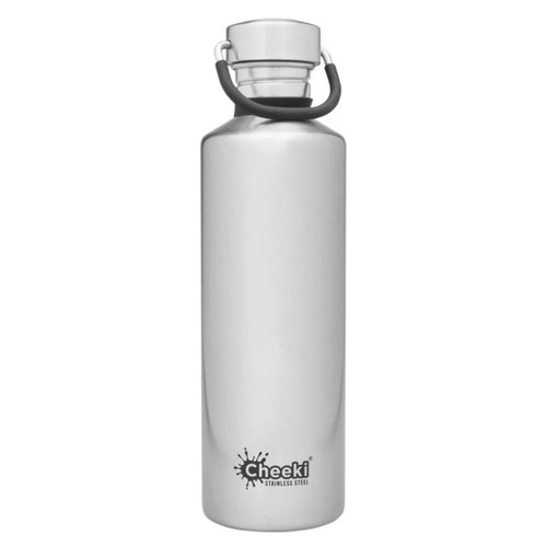 Cheeki Single Wall Water Bottle (Silver) - 750ml