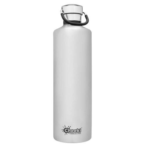 Cheeki Single Wall Water Bottle (Silver) - 1 litre