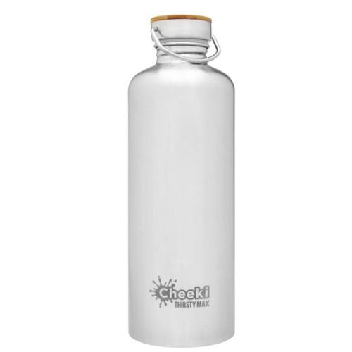 Cheeki Single Wall Water Bottle (Silver) - 1.6 litre