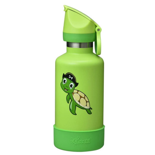 Cheeki Kids Insulated Water Bottle (Turtle) - 400ml