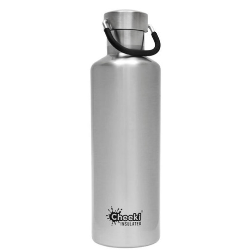 Cheeki Insulated Wall Water Bottle (Silver) - 600ml