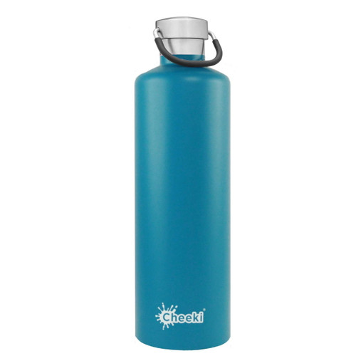 Cheeki Insulated Wall Water Bottle (Topaz) - 1 litre
