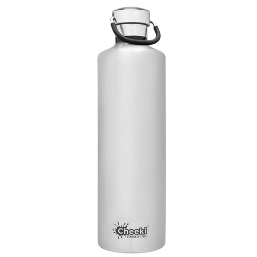 Cheeki Insulated Wall Water Bottle (Silver) - 1 litre