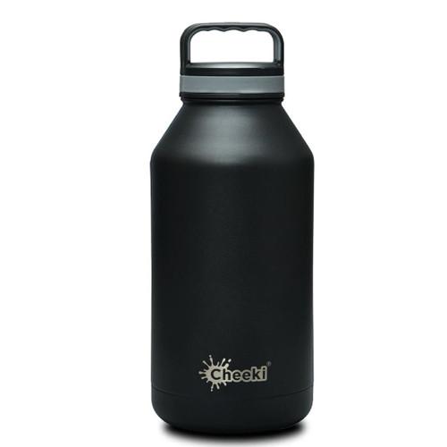 Cheeki Insulated Wall Water Bottle (Black) - 1.9 litre