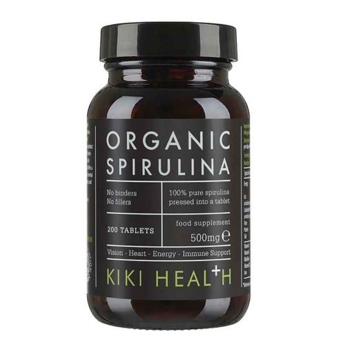 Kiki Health Organic Premium Spirulina - 200 tablets