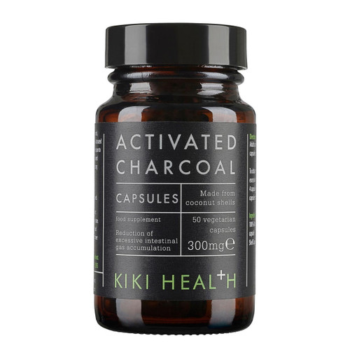Kiki Health Activated Charcoal - 50 vegcaps