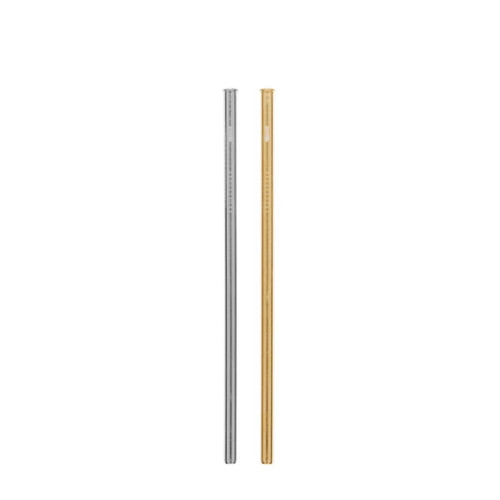 Cheeki Reusable Straight Straw (Silver & Gold) - 2 pack